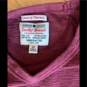 Lucky Brand Burgundy ThermalCrew Neck